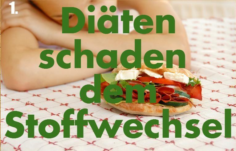 Diäten schadem dem Stoffwechsel
