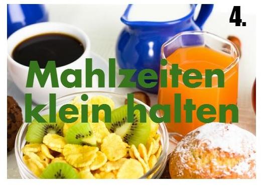 Mahlzeiten klein halten fördert den Stoffwechsel