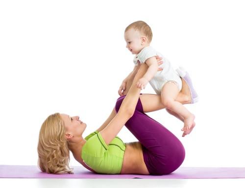 Zum Abnehmen nach der Schwangerschaft eignen sich Gymnastikübungen