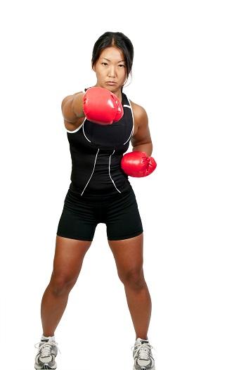 Boxen für Frauen lässt Pfunde purzeln und Muskeln wachsen