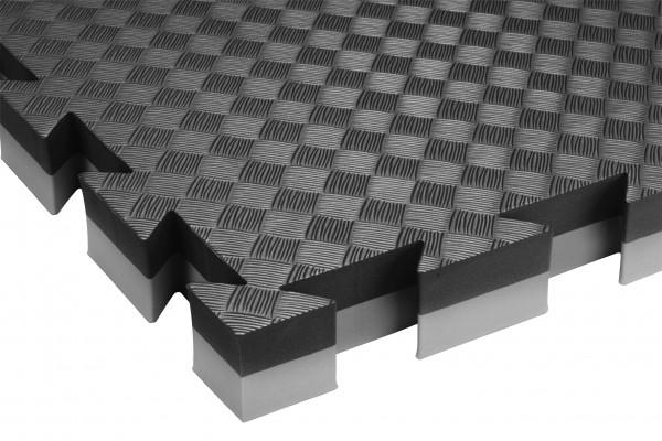Mattenboden für Judo und Aikido schwarz/weiß