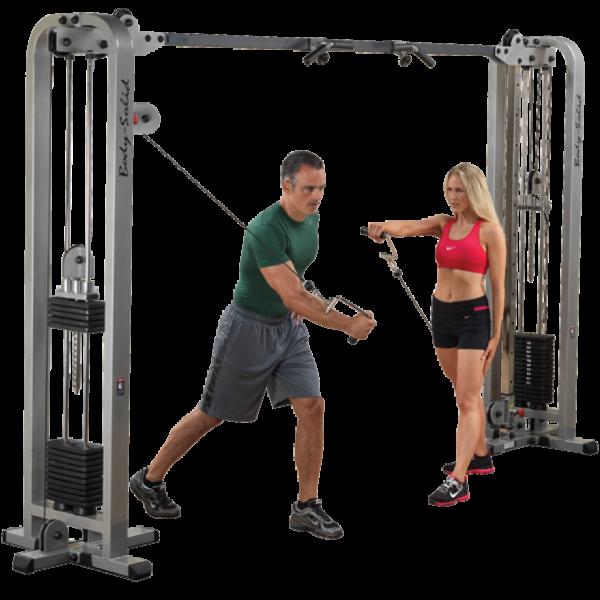 Body-Solid Pro Club Line Cable-Crossover-Maschine SCC-1200 mit zwei 115kg Gewichtspaketen