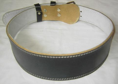 Gewichthebergürtel Leder schwarz