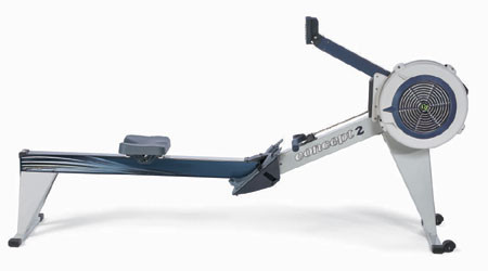 Concept2 Modell E Indoor Rower mit PM5 hellgrau