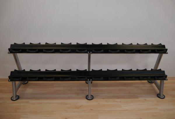 Kurzhantelständer mit Gummischalen für 10 Paar Hanteln