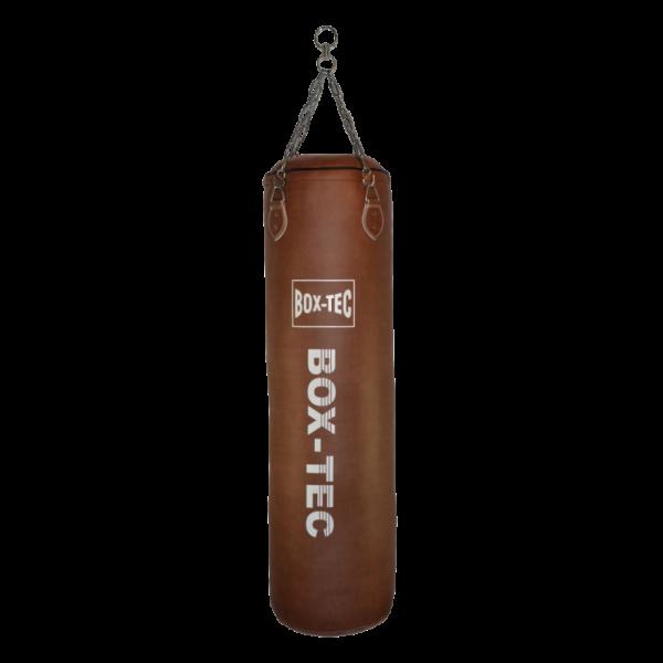 BOX-TEC Boxsack Sandsack Punching-Bag Retro 120cm, gefüllt inkl. Vierpunkt-Kette mit Drehwirbel