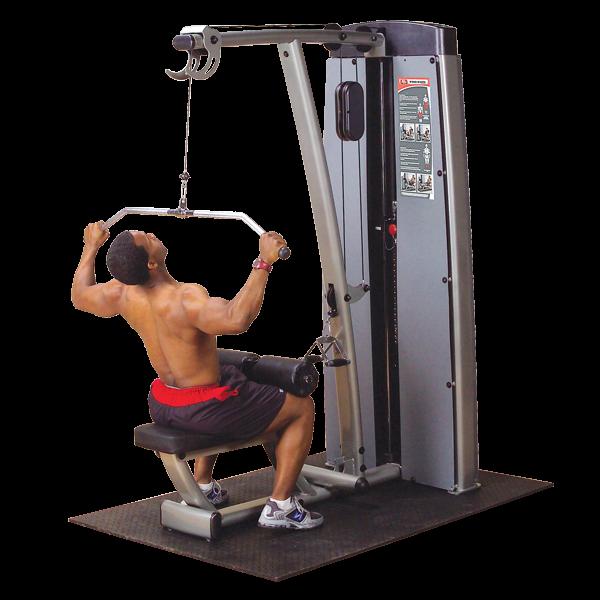 Body-Solid Pro Dual Latzug- und Rudermaschine Gewichtsblock 140 kg