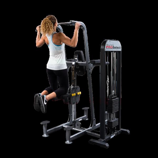 Body-Solid Kniehebe- / Klimmzug- / Dipstation mit 100kg-Gewichtsunterstützung FCD-STK