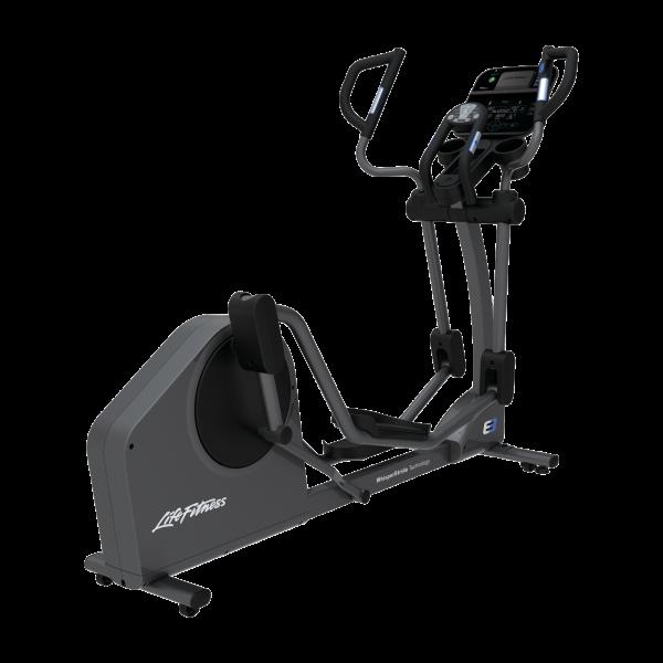 Life Fitness Crosstrainer E3 mit Track Connect Konsole inkl. Bodenschutzmatte und Pulsbrustgurt