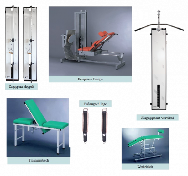 Gerätegestützte Krankengymnastik KG-Gerät-Paket