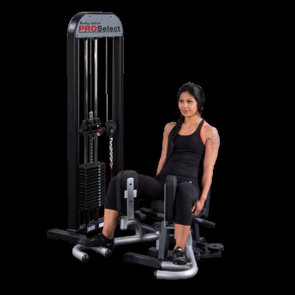 Body-Solid Ab- & Adduktorenmaschine mit 75 kg Steckgewichten, sitzend GIOT-STK