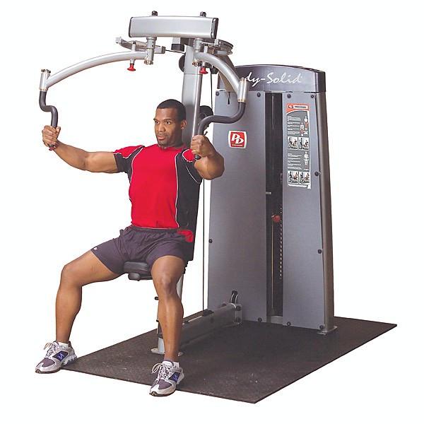 Body-Solid Pro Dual Butterfly und Reverse Butterfly Gewichtsblock 140 kg