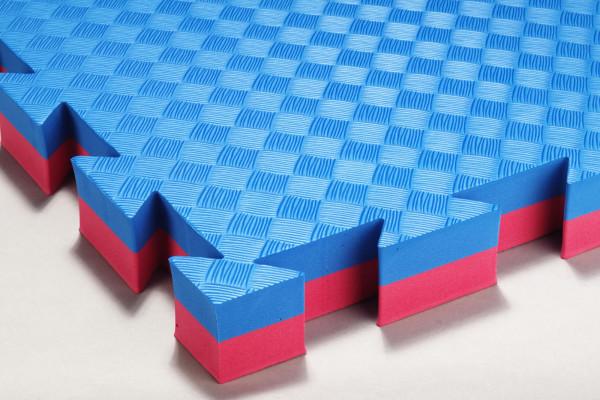 Mattenboden für Judo und Aikido blau/rot