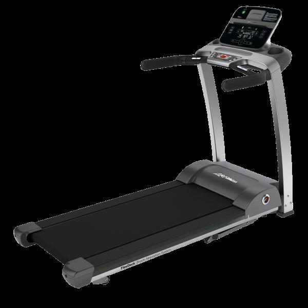 Life Fitness Laufband F3 mit Track Connect Konsole inkl. Bodenschutzmatte und Pulsbrustgurt