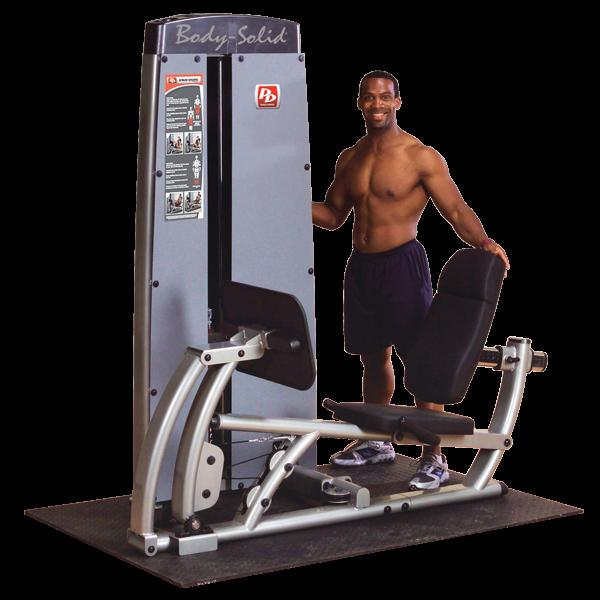 Body-Solid Pro Dual Beinpresse und Wadenmaschine Gewichtsblock 95 kg