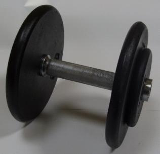 Kompakthantelsatz Guss (10 Paar) von 2,5 kg bis 25 kg