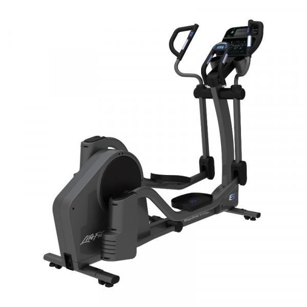 Life Fitness Crosstrainer E5 mit Track Connect Konsole inkl. Bodenschutzmatte und Pulsbrustgurt