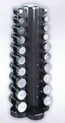 Chrom-Hantelsatz inkl. Ständer 1-10 kg