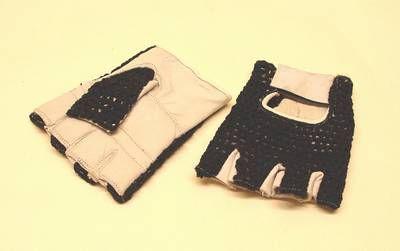 Handschuhe mit Strickrücken schwarz