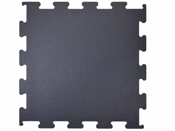 Rubber Flooring Segura Interlocking Black 100 x 100 x 1,5 cm