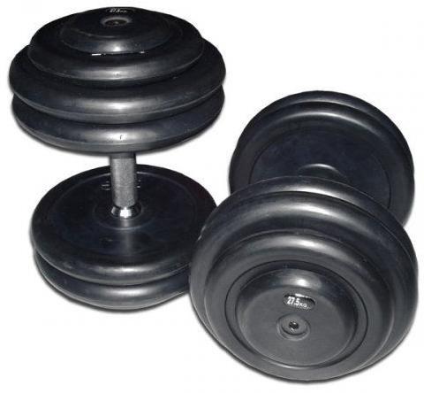 Kompakthantelsatz gummiert (10 Paar ) von 2,5 kg bis 25 kg