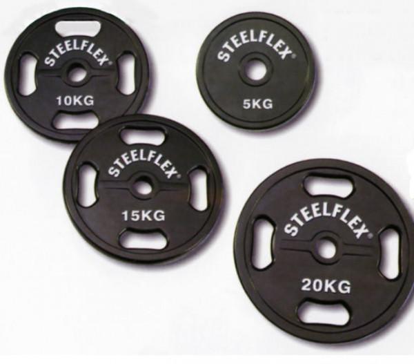 Hantelscheibe 51mm, gummiert Stellflex Set 2 x 2,5 / 2 x 5 /2 x 10 / 2 x15 / 2 x 20 kg