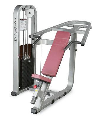 Body-Solid Schräg-Bankdrück-Maschine mit 95kg Gewichtspaket